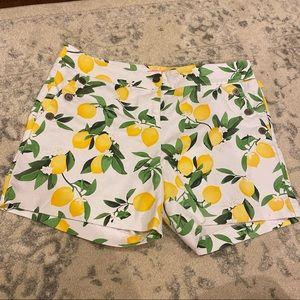 Isaac Mizrahi Lemon Shorts Size 14